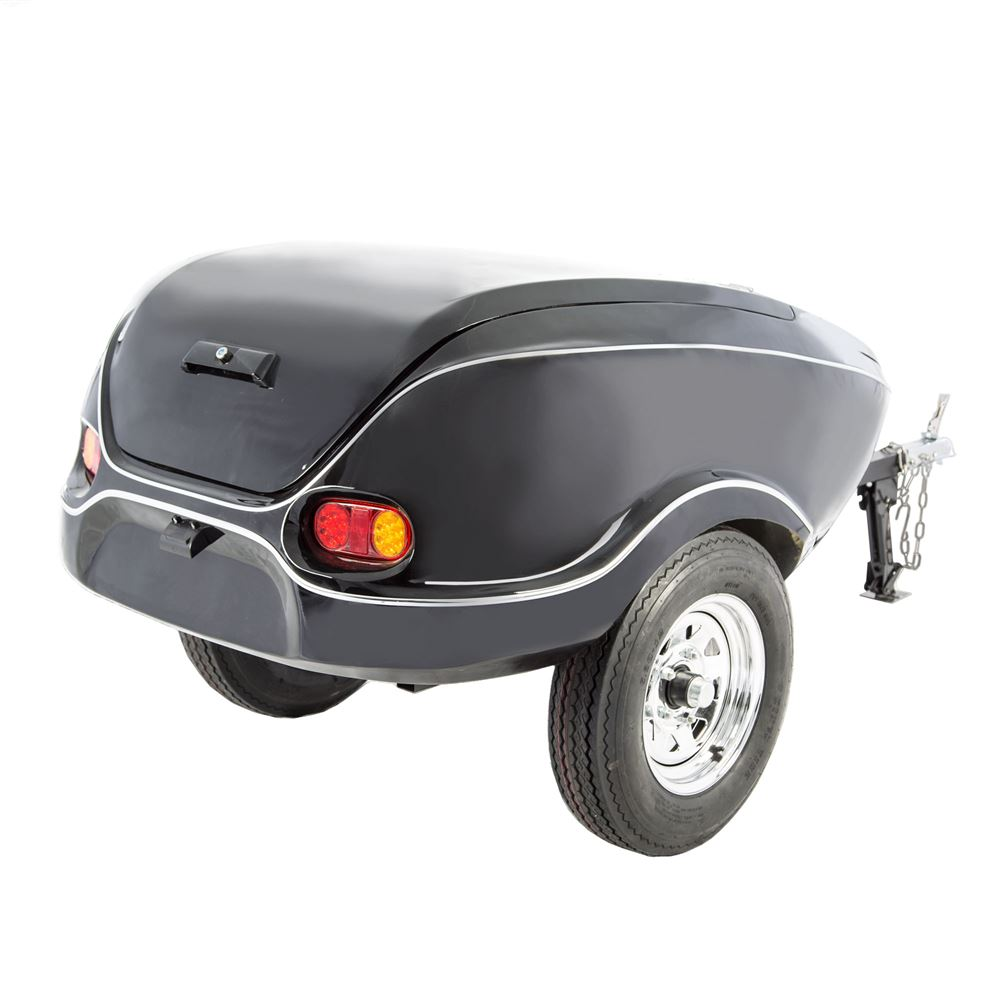 Black Widow Tow Behind Motorcycle Cargo Trailer 600 lbs