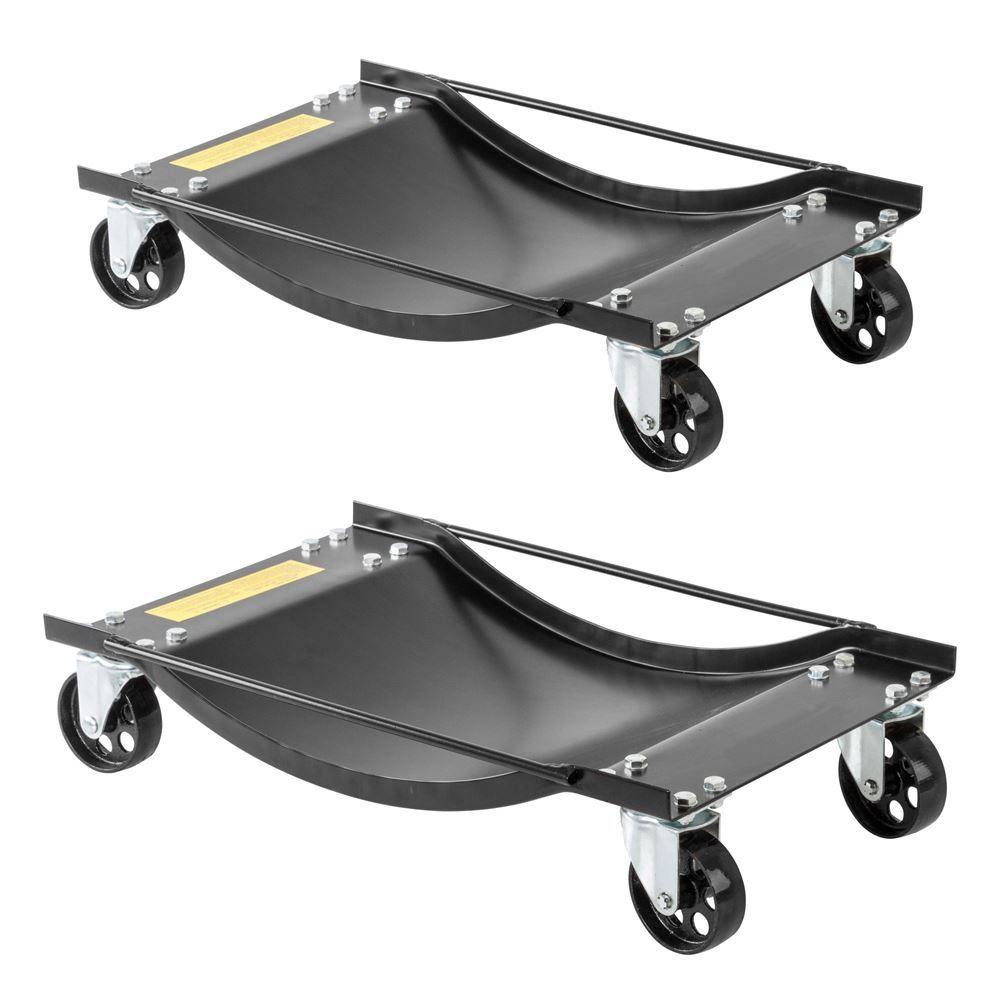 BW-WD Black Widow Steel Car Wheel Dollies - 1000 lbs Capacity