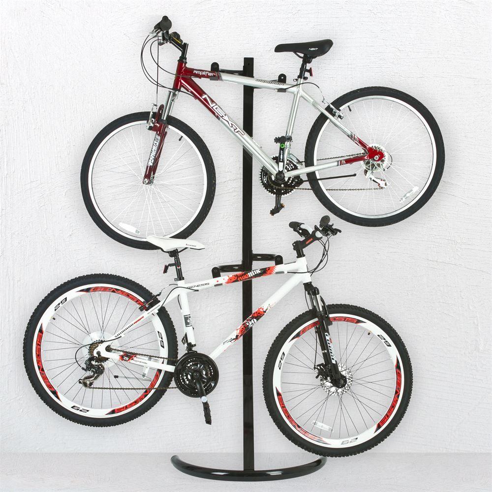 Bike Stand 1 Apex Free Standing Or Wall Mounted 2 Bike Storage Rack