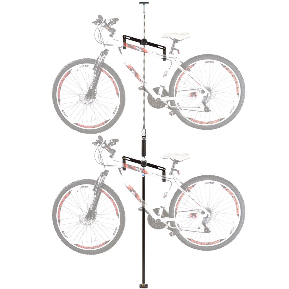 Bike-Stand-5 Apex Floor to Ceiling 2-Bike Storage Rack