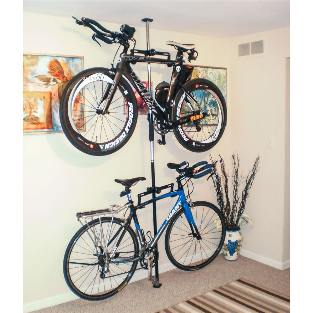 Bike-Stand-5 Apex Floor to Ceiling 2-Bike Storage Rack 1 & Apex Floor to Ceiling 2-Bike Storage Rack | Discount Ramps