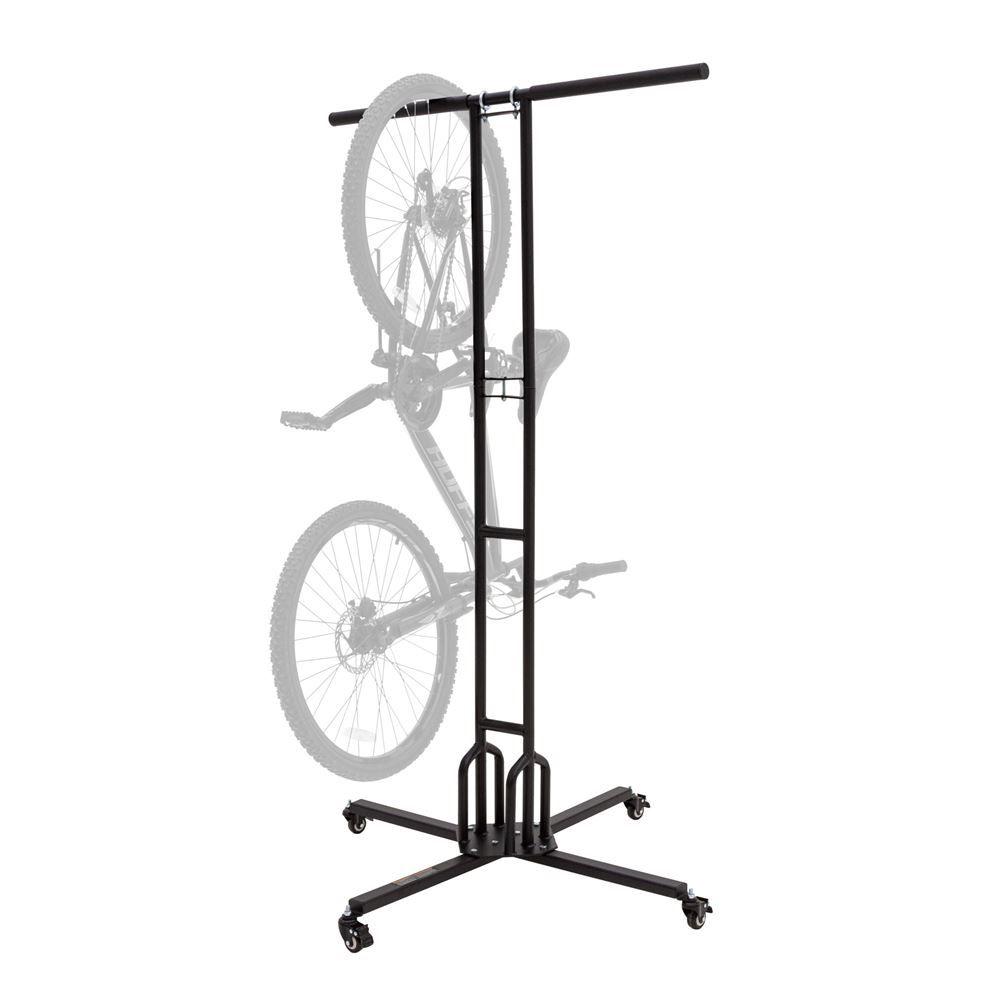 Bike-Stand-6 Elevate Outdoor 74 H Mobile 6-Bike Storage Rack