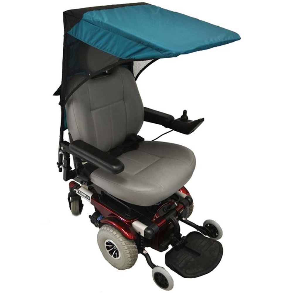 C1110 Scooter  Wheelchair Canopy Base Model - Pediatric Size in Teal Green