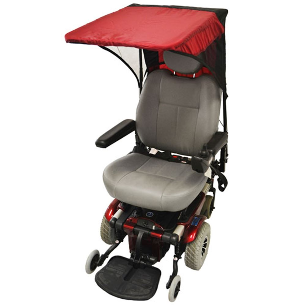 C1310 Scooter  Wheelchair Canopy Base Model - Pediatric Size in Cranberry Red