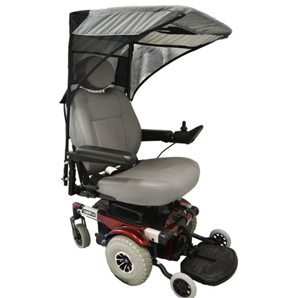 C1410 Scooter  Wheelchair Canopy Base Model- Pediatric Size in Charcoal Gray