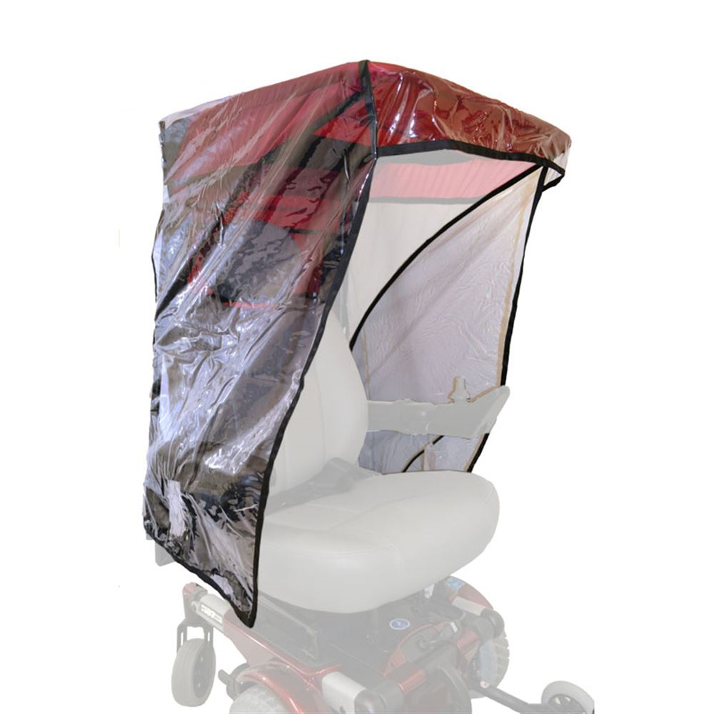 C7433 Pediatric - Max Protection Plastic Rain Enclosure for WeatherBreaker Wheelchair Canopies
