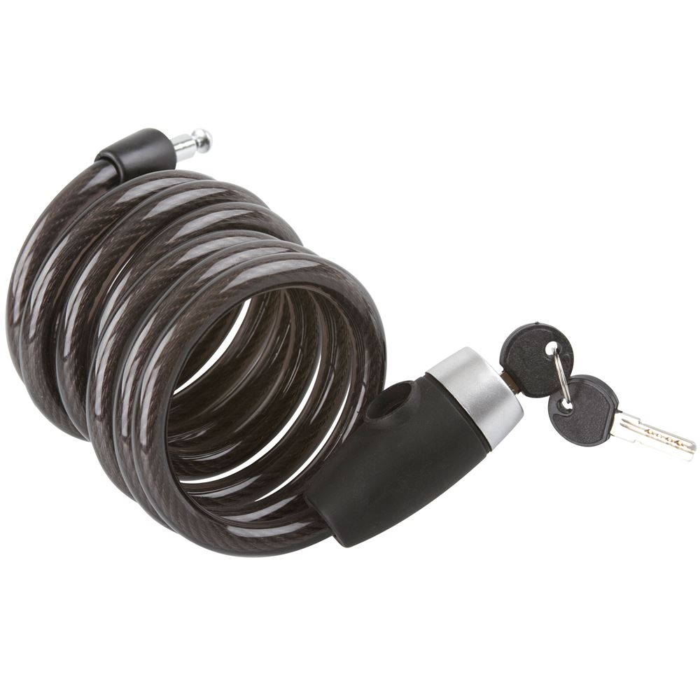 CABLE-LOCK-6 6 ft Apex Self Coiling Bicycle Cable Lock