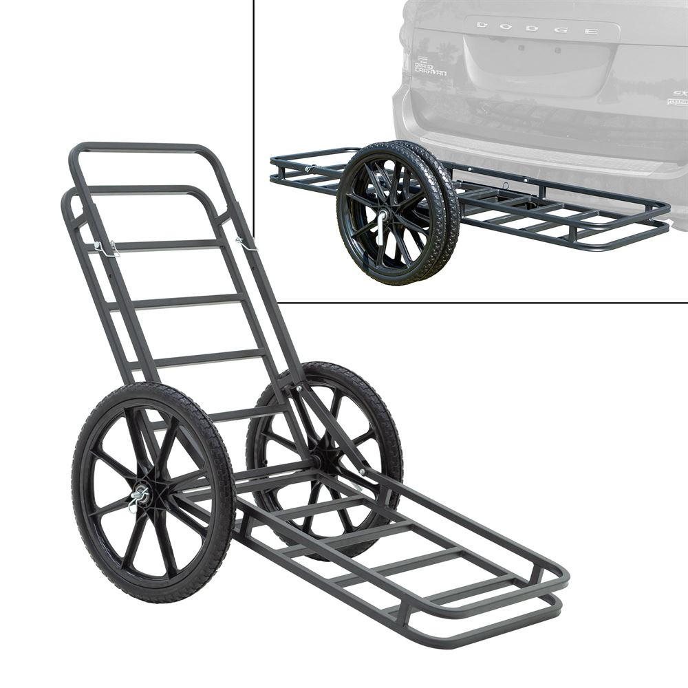 CARGO-CART Elevate Outdoor Hitch-Mounted Cargo Carrier and Game Cart