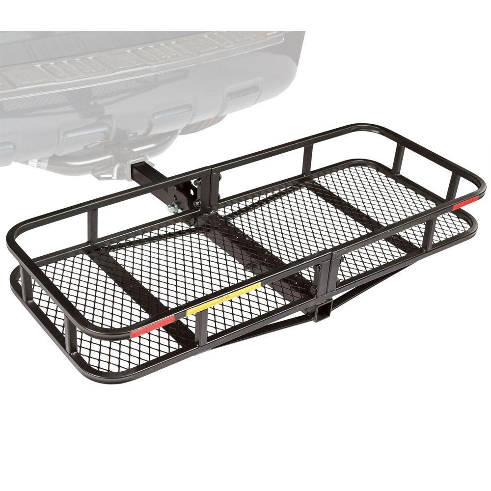 "Apex CCB-F6020-DLX 60/"" Long Steel Basket Folding Hitch Cargo Carrier"