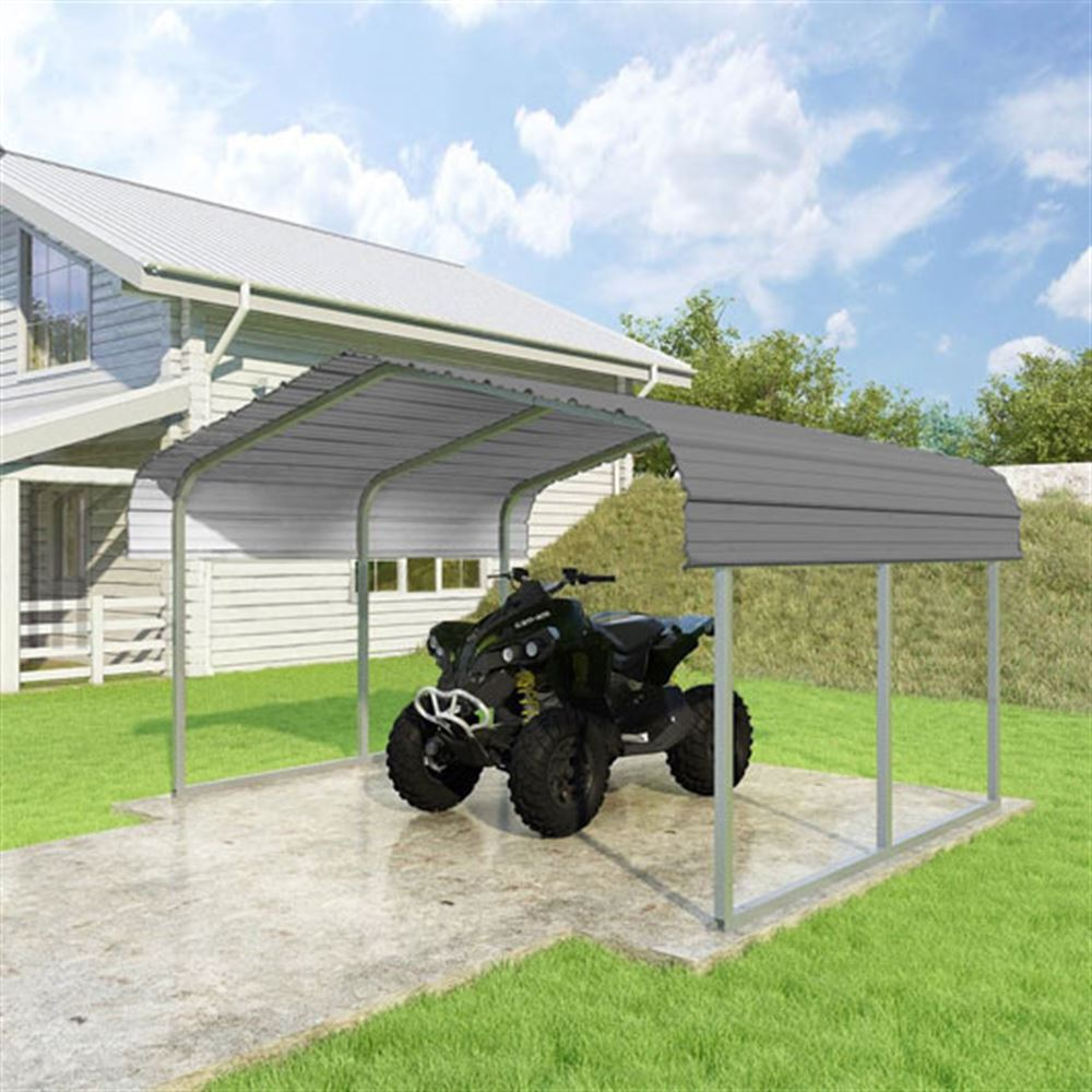 CCP12106-C 12W x 10L x 6H Charcoal ATV and Lawn Equipment Carport by Versatube