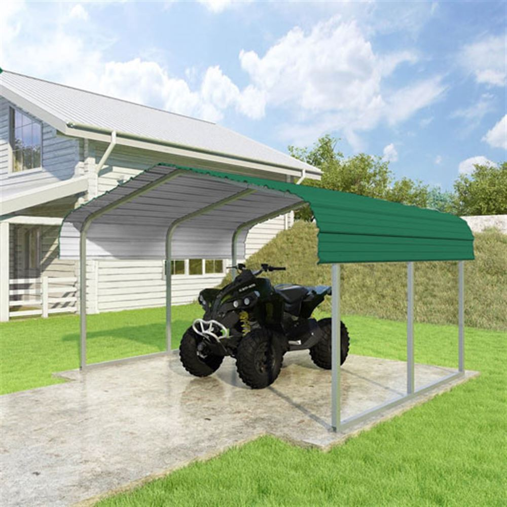 CCP12106-FG 12W x 10L x 6H Forest Green ATV and Lawn Equipment Carport by Versatube