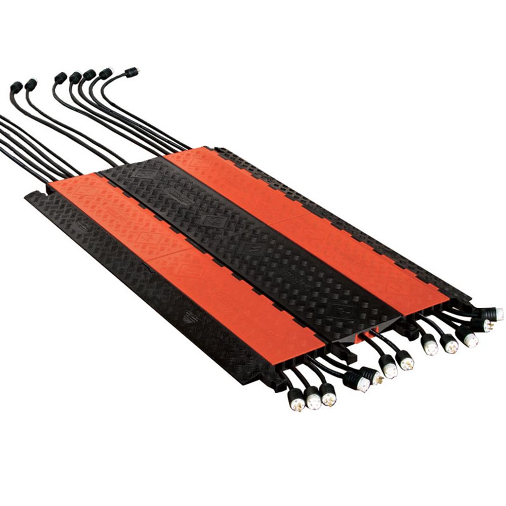Channel cross link cable protector bridge for