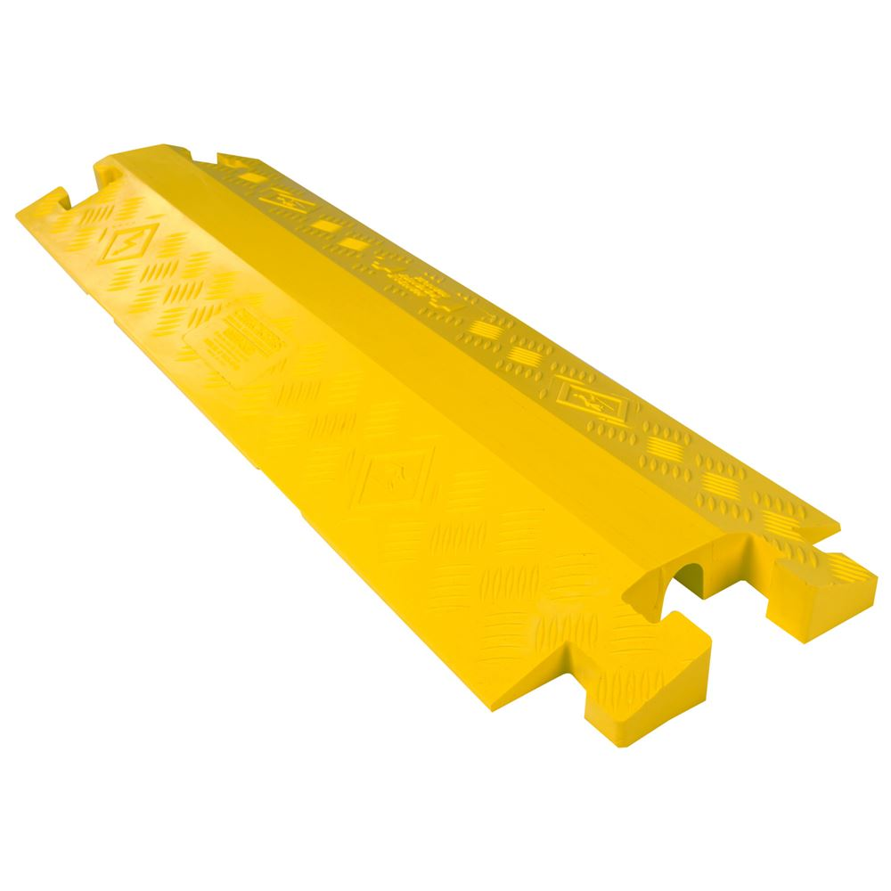 CP1X125-GP-DO-Y Yellow 1-Channel Drop-Over Linebacker Cable Protector for 1-14 Diameter Cables