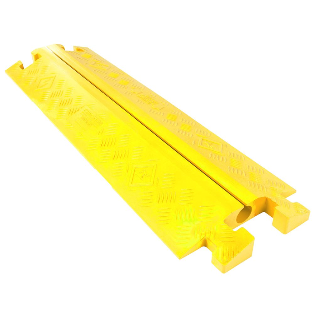 CP1X125-GP-Y Yellow 1-Channel Split-Top Linebacker Cable Protector for 1-14 Diameter Cables