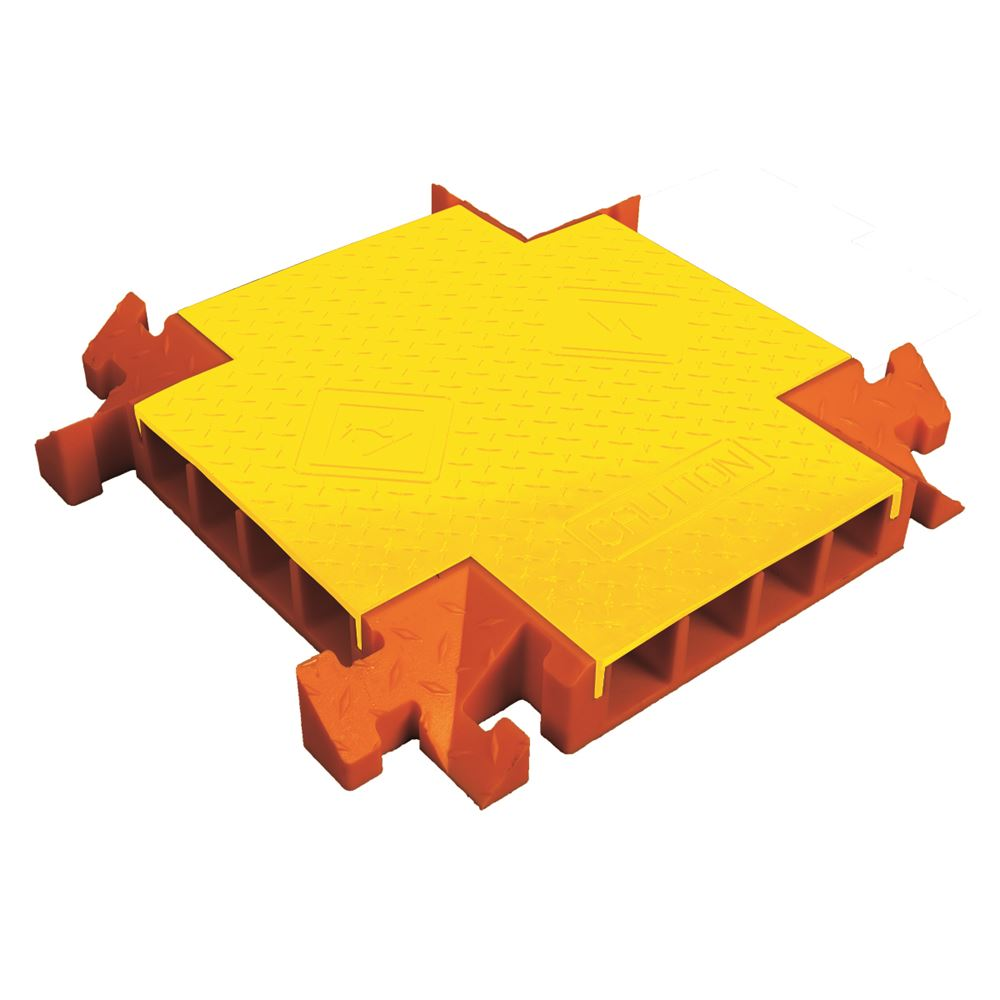 CPCR4X300-YO 4-Channel 4-Way Cross Linebacker Cable Protector for 3 Diameter Cables