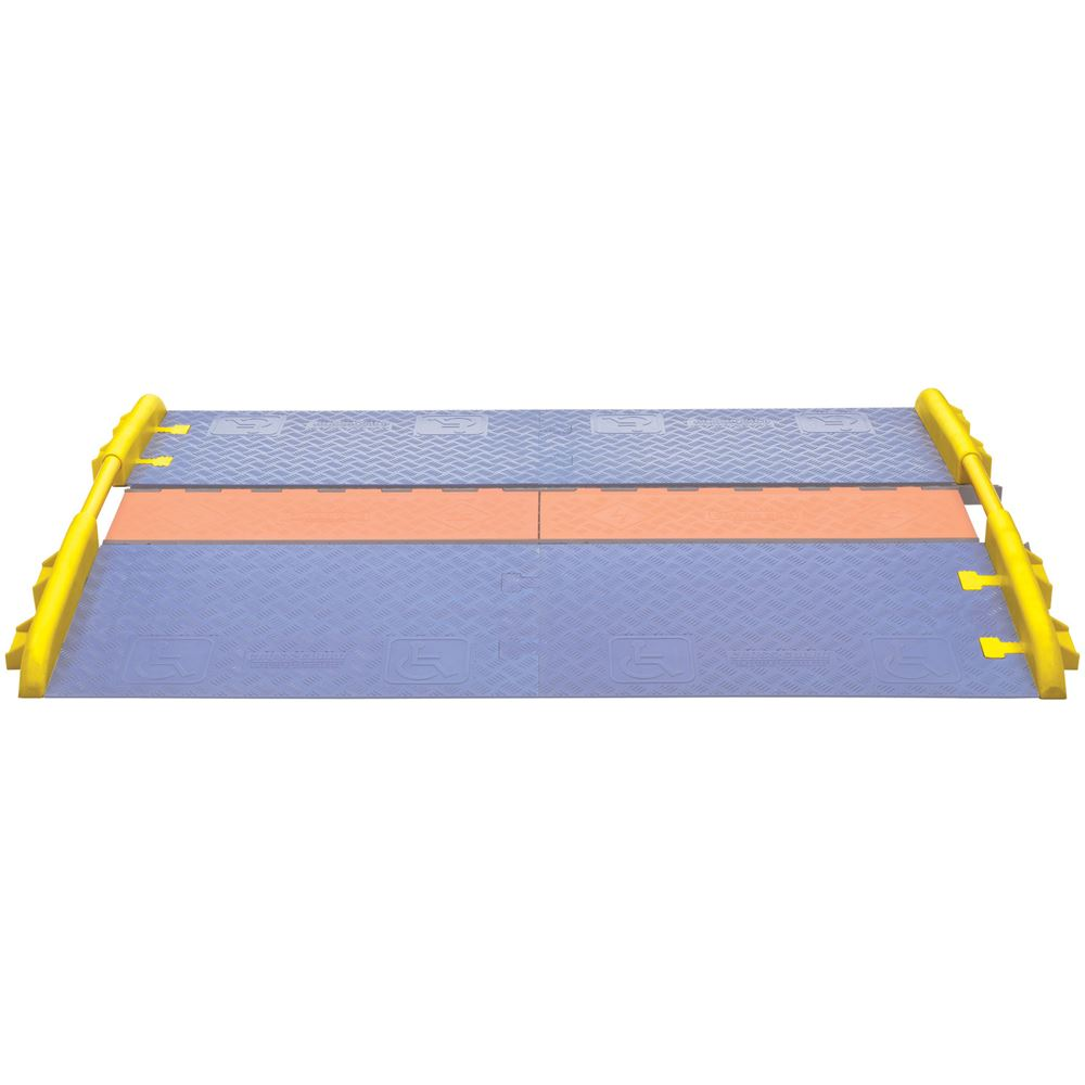 CPRL-1X125-Y Cross-Guard ADA Wheelchair Cable Ramp Rail for 1-Channel Linebacker Cable Protectors