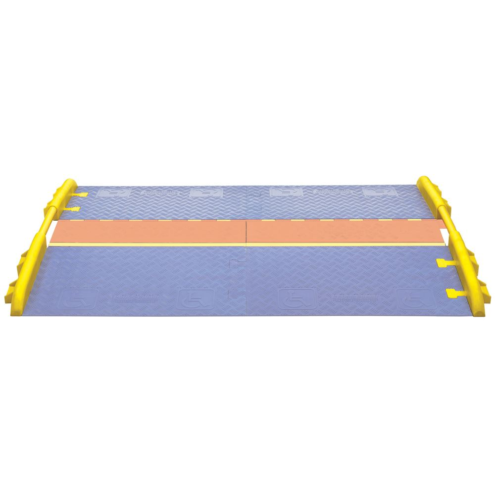 CPRL-5GP-CL-Y Cross-Guard ADA Wheelchair Cable Ramp Rail for 5-Channel Linebacker Cable Protectors