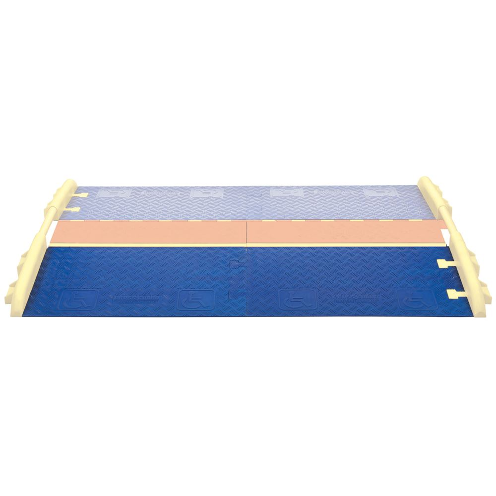 CPRP-1X125-BLU Cross-Guard ADA Wheelchair Cable Ramp for 1-Channel Linebacker Cable Protectors