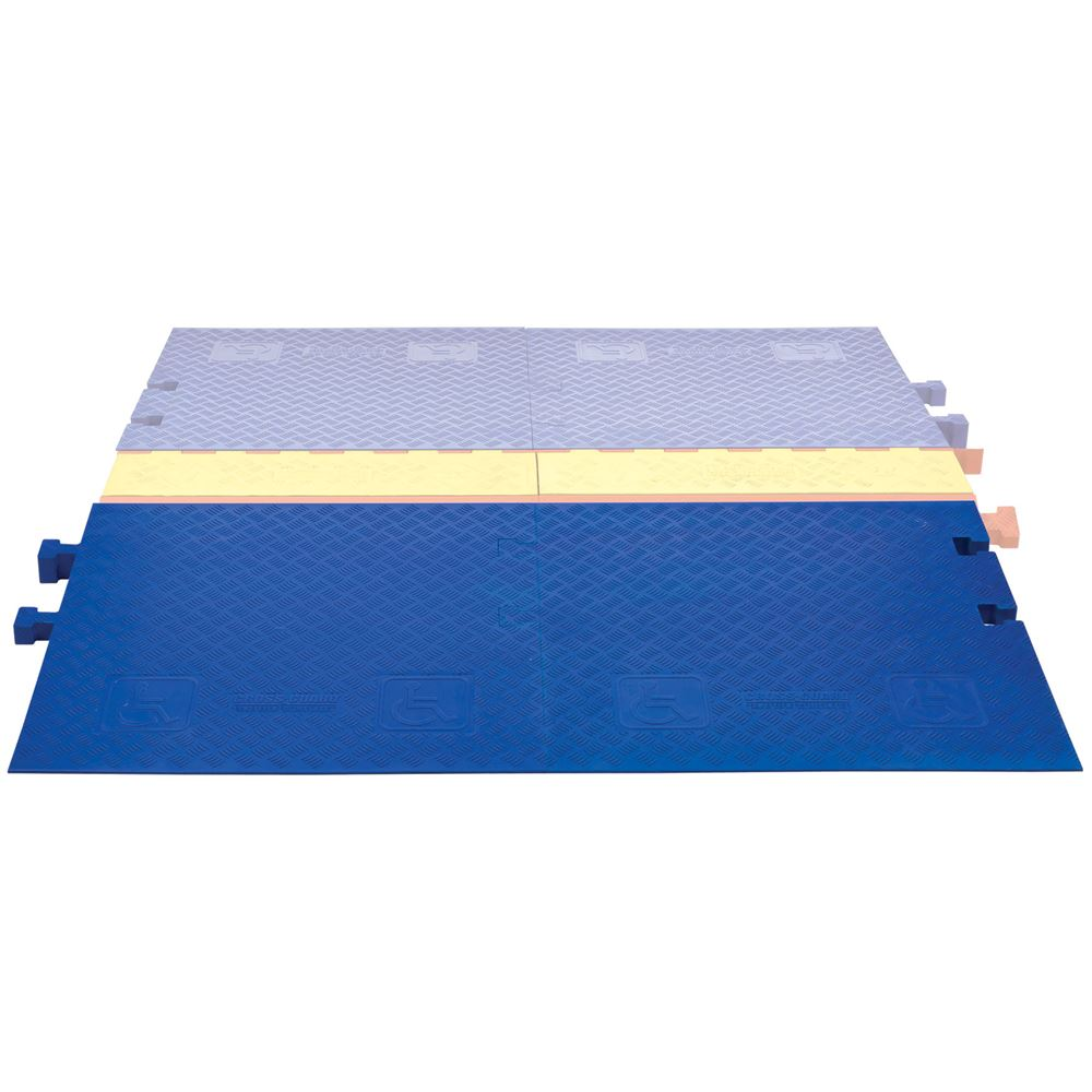 CPRP-3-BLU Cross-Guard ADA Wheelchair Cable Ramp for 3-Channel Linebacker Cable Protector