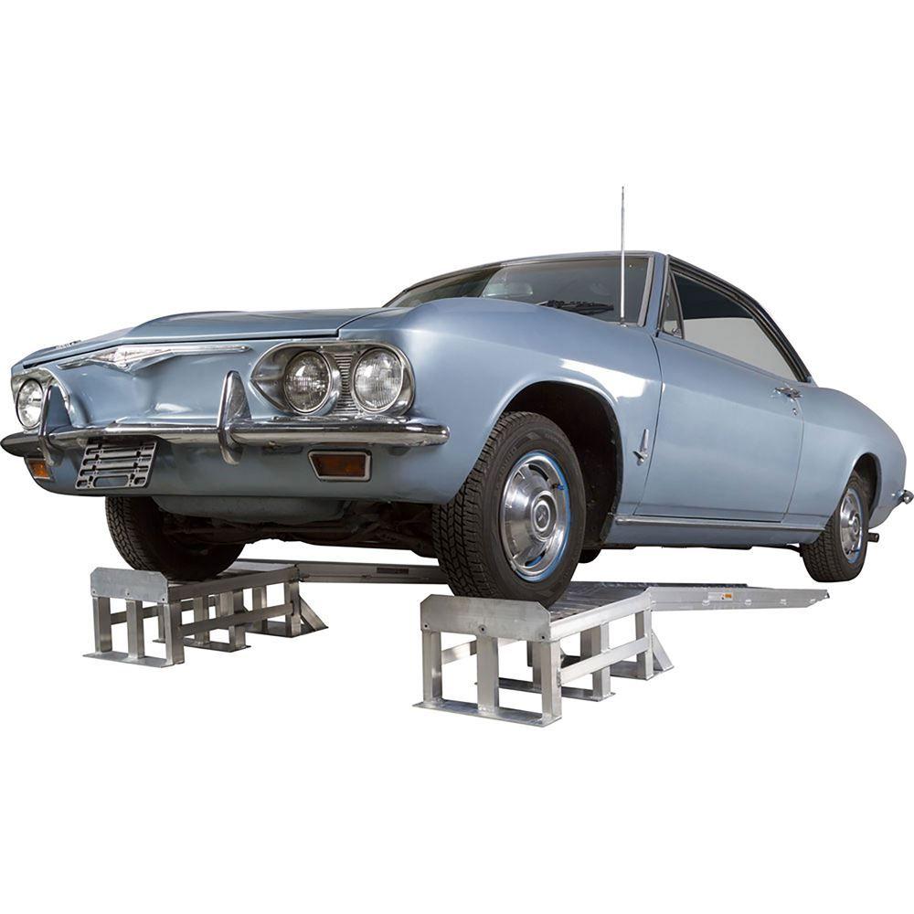 Extra-Long Aluminum 2-Piece Car Service Ramps