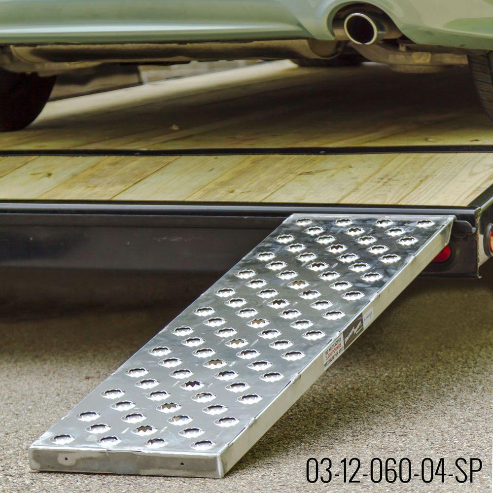 CTR-PP EZ Traction Hybrid Hook  Plate End Aluminum Car Trailer Ramps - 2500 3000  4000 lb per axle Capacity 2