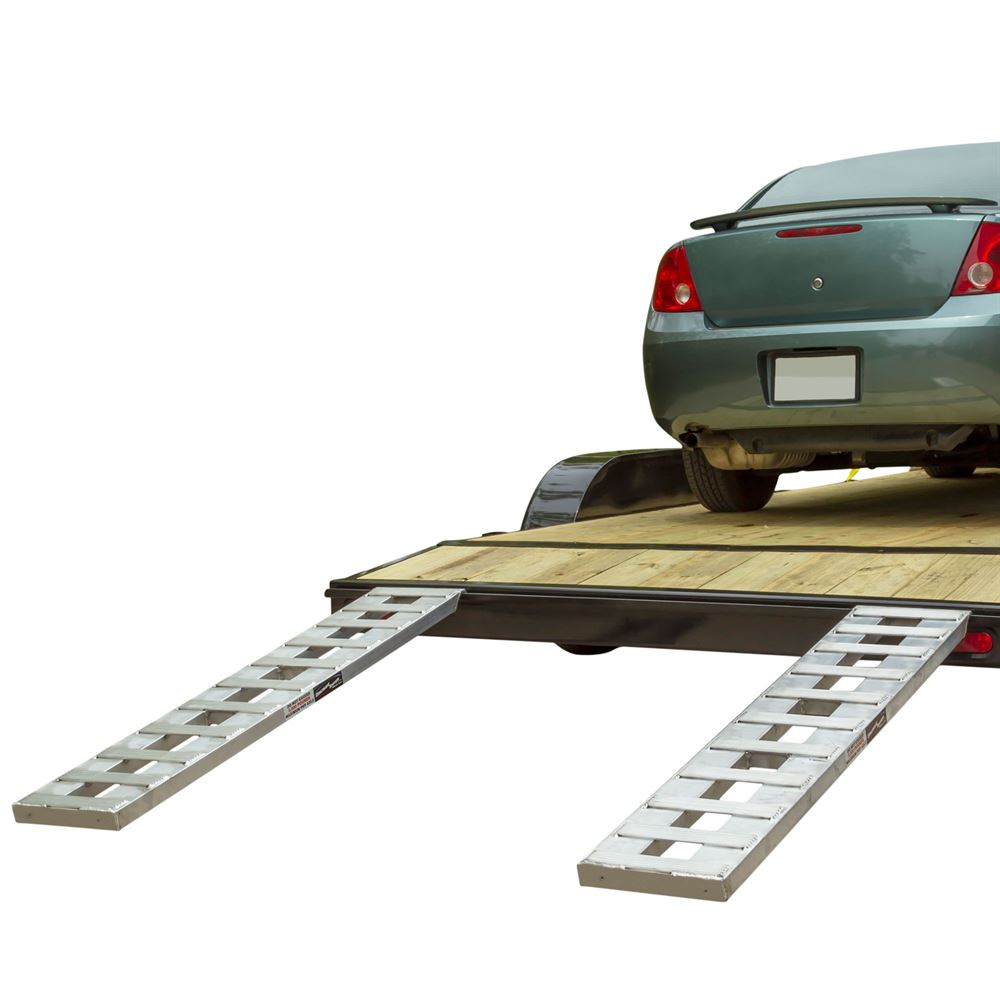 CTR Aluminum Hybrid Hook  Plate End Car Trailer Ramps - 2500 3000  4000 lb per axle Capacities