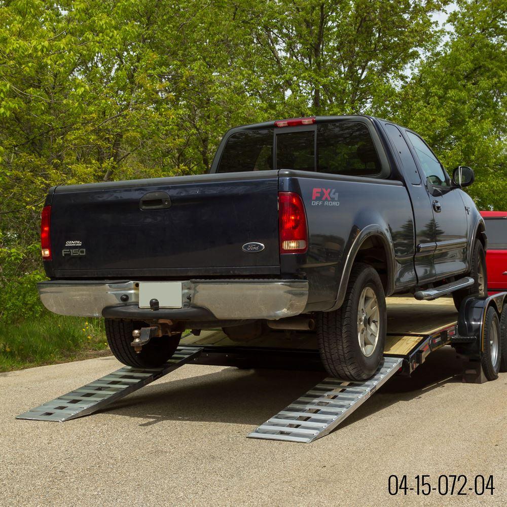 Car Trailer: Aluminum Hybrid, Hook & Plate End Car Trailer Ramps