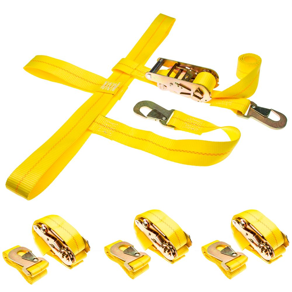 CTS-RAT-SNAP-4 4-Pack of Car Wheel Tie Down Straps