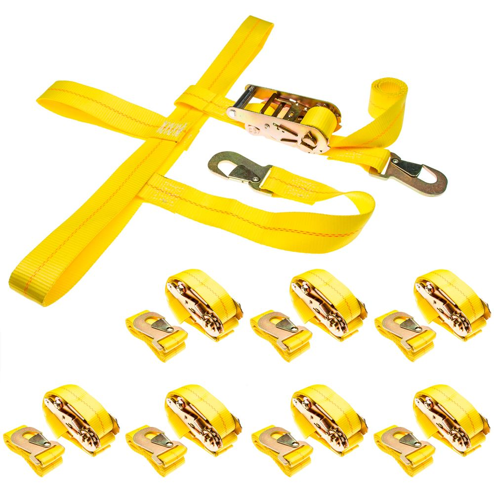 CTS-RAT-SNAP-8 8-Pack of Car Wheel Tie Down Straps