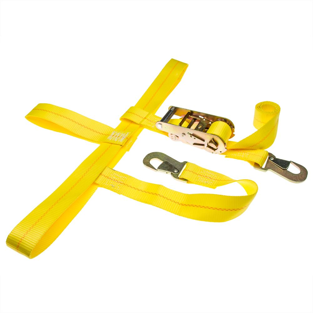 4 Axle Straps Car Hauler Trailer Auto Tie Down 4 Ratchet Straps Tow Kit Yellow Car & Truck Parts Automotive