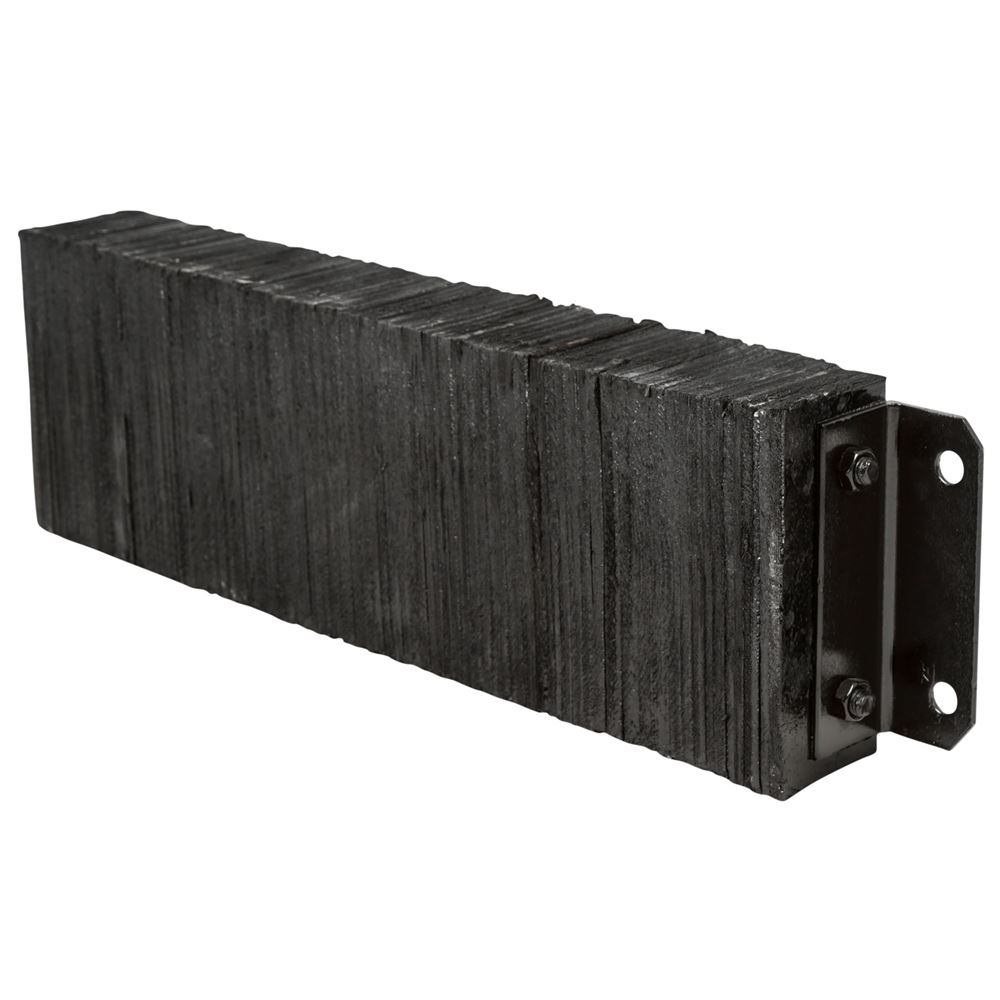 DB-L3610 36 W x 10 H x 4-12 D Guardian Horizontal Laminated Rubber Dock Bumper