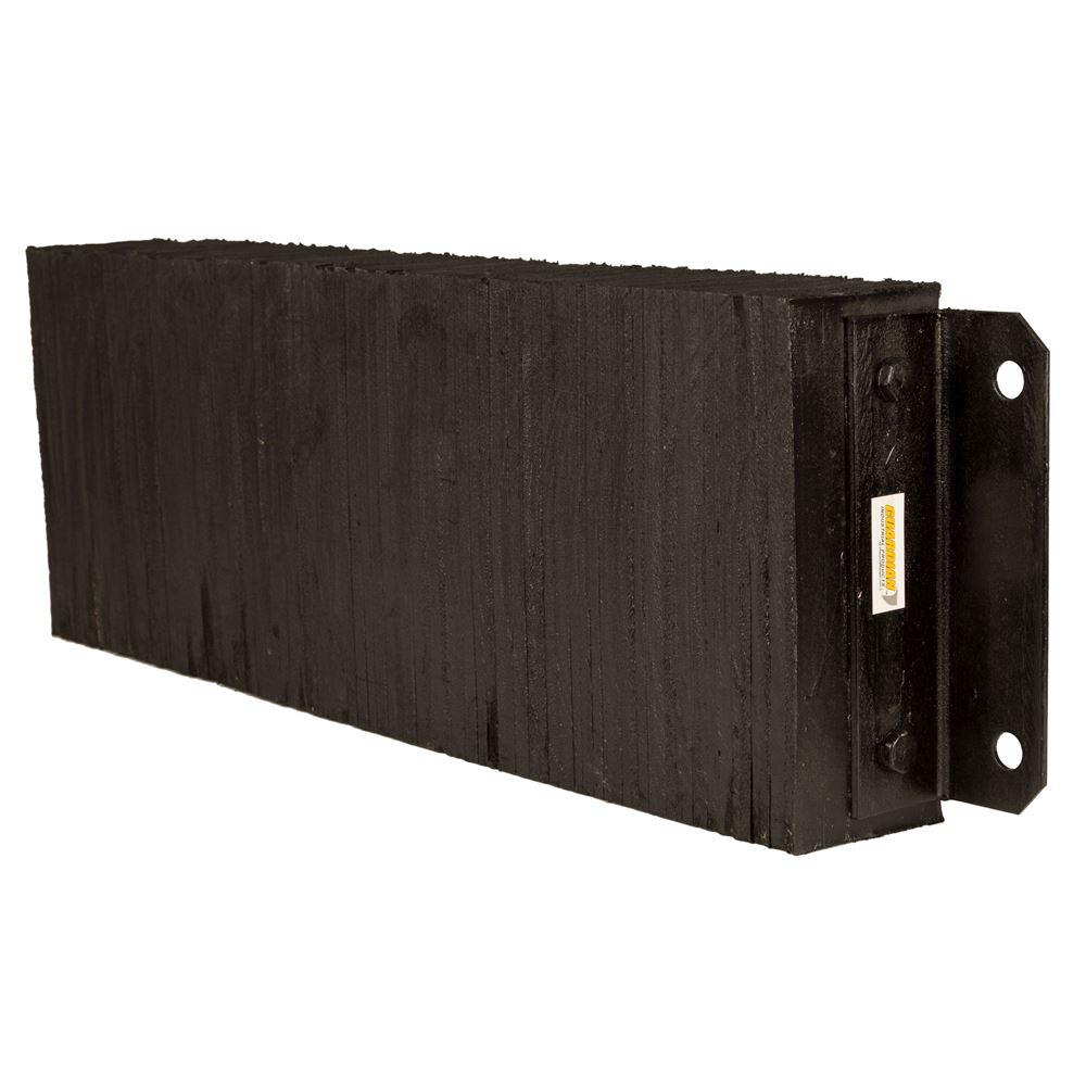 DB-L3612 36 W x 12 H x 4-12 D Guardian Horizontal Laminated Rubber Dock Bumper