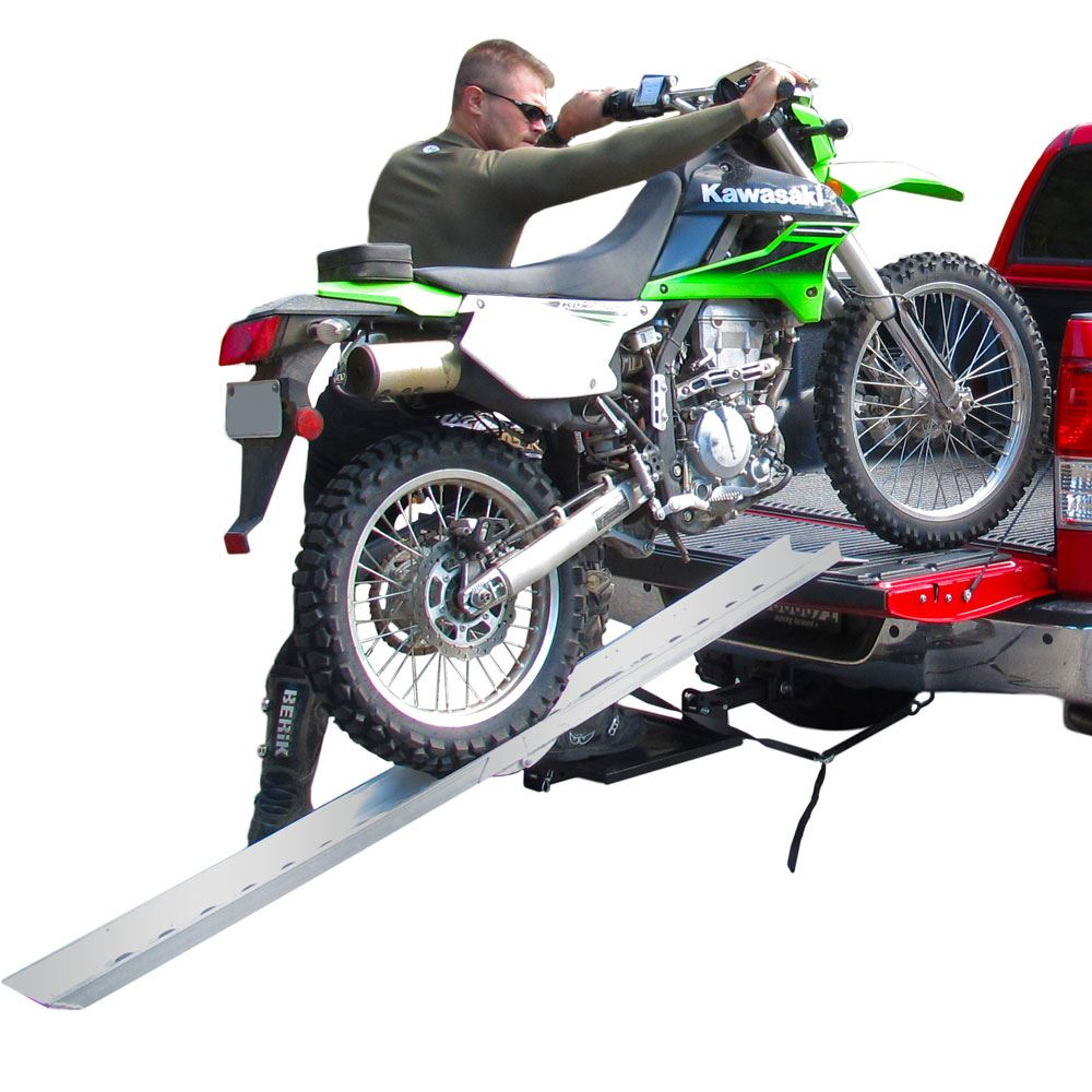 DBF-8206 Black Widow Aluminum Folding Straight Single Runner Motocross Dirt Bike Ramp