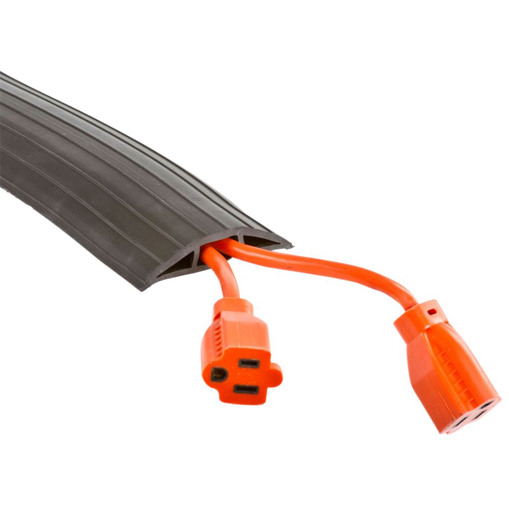 """2-Cord Floor Cable Cover For 0.375"""" Diameter Cables"""