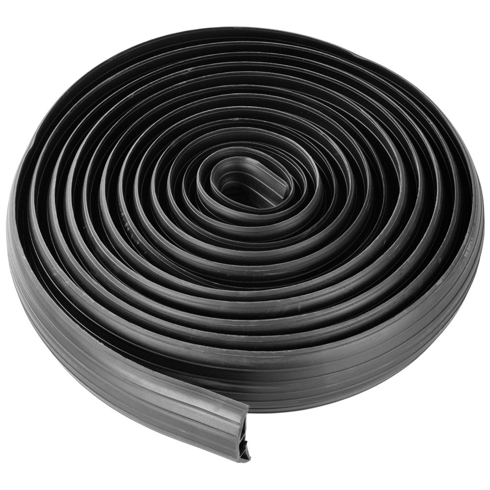 Ideal Extension Cord Cover to Protect Wires On Floor Floor Cord Cover X-Protector Overfloor Cord Protector Big Hole Self-Adhesive Power Cable Protector Grey 5/' Silicone Cord Protector