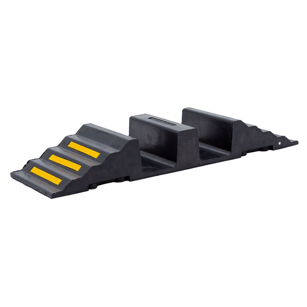 DH-HR-5 Hose Protector Ramp with dual 4-12D hose channels - 20000 lb capacity per axle