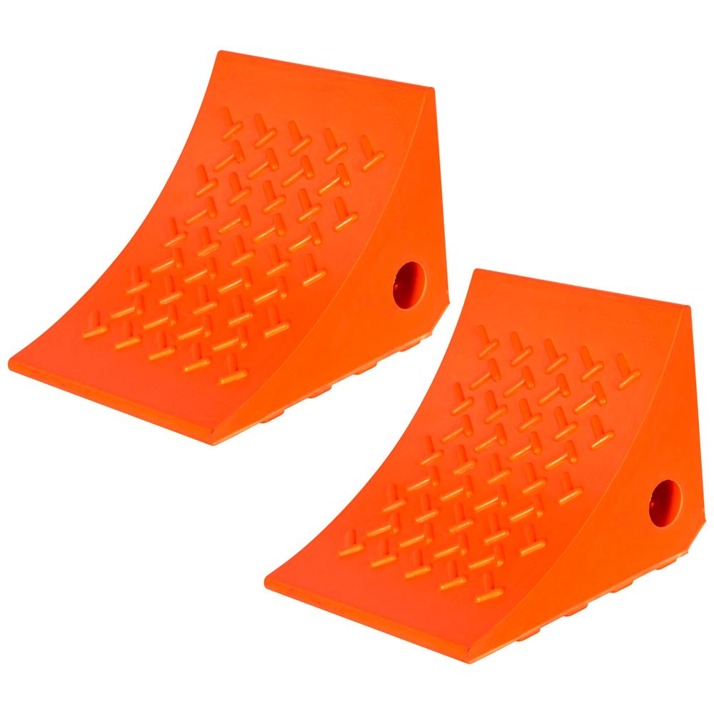 DH-PWC-2-2 Pair of Guardian Polyurethane Wheel Chock - 8 x 7 x 6