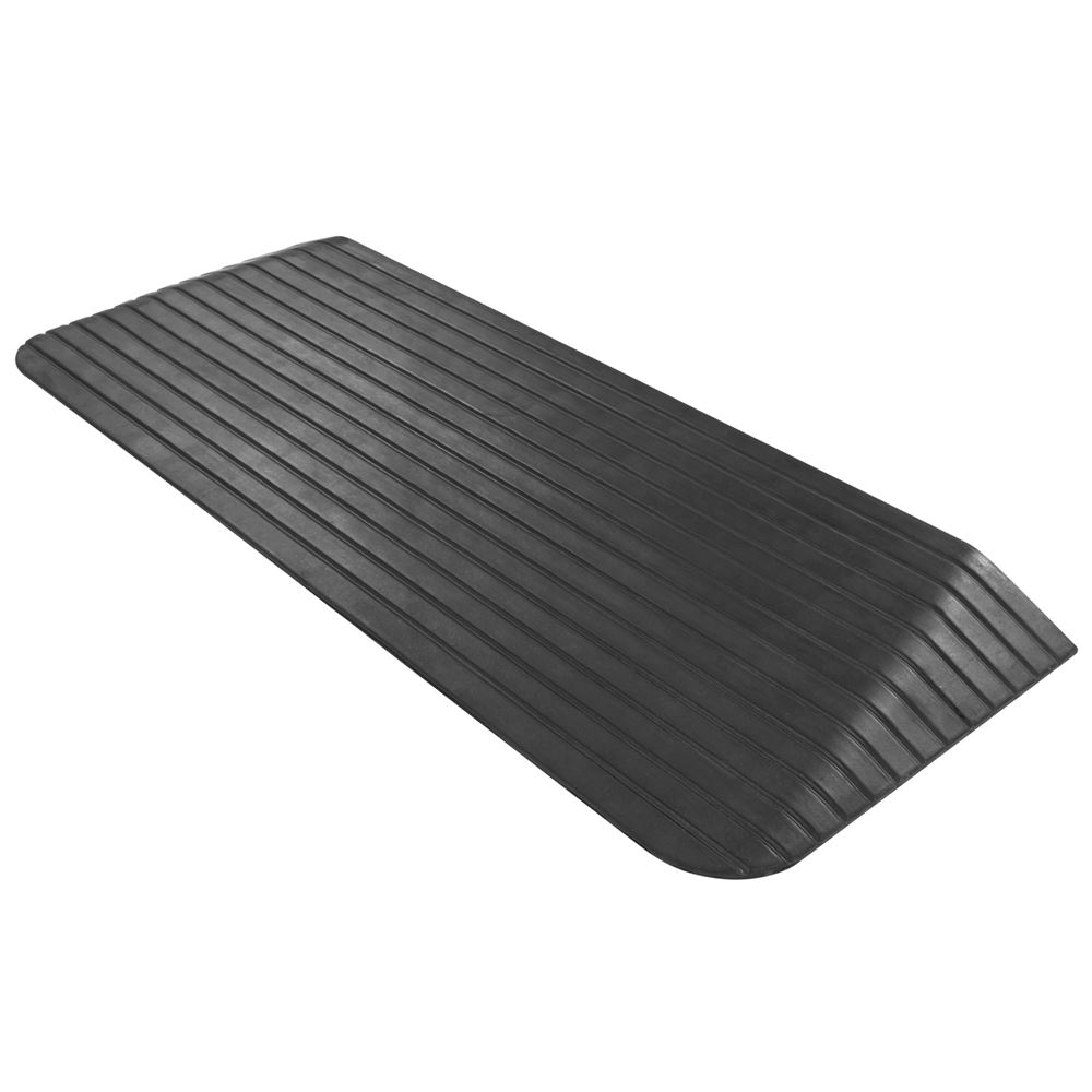 DH-TR-2 2 Maximum Rise - Silver Spring Rubber Solid Threshold Ramp
