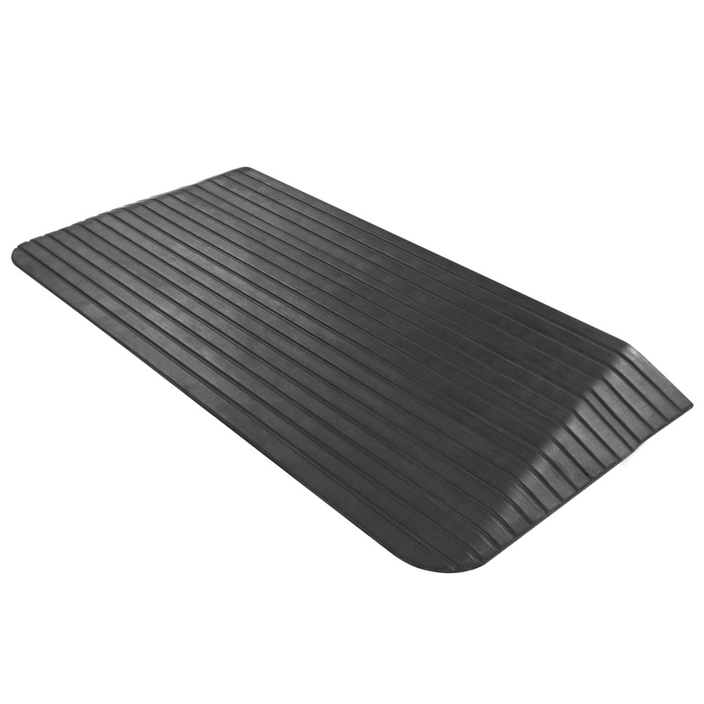 DH-TR-25 2-12 Maximum Rise - Silver Spring Rubber Solid Threshold Ramp