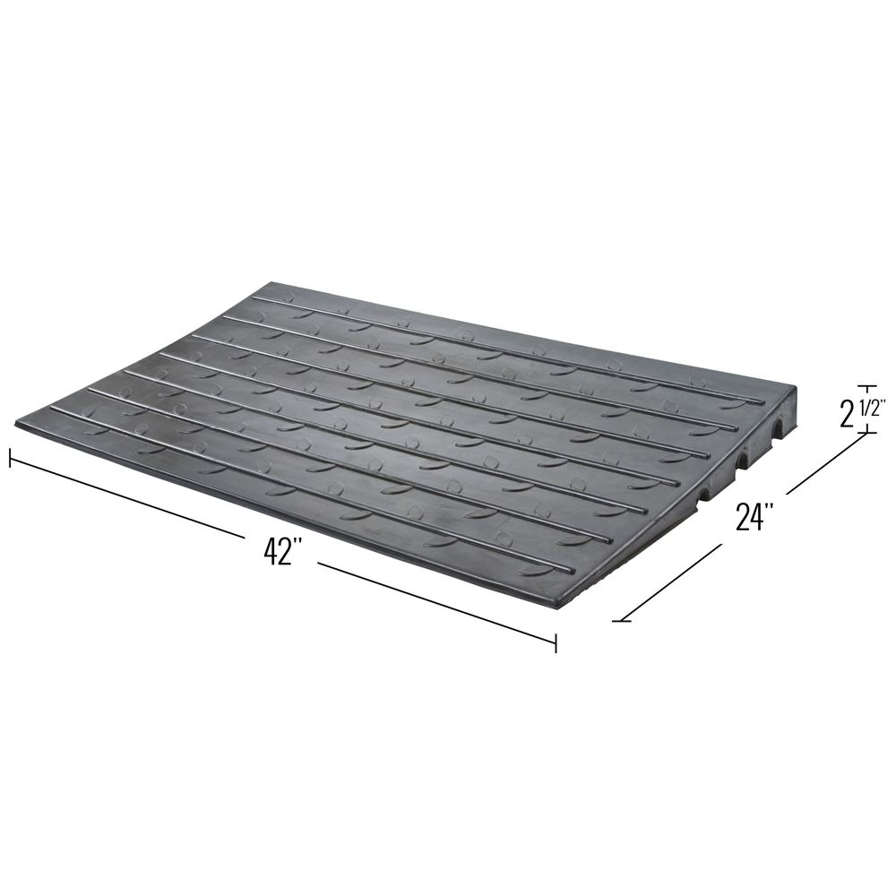 DH-UP-8 2-12 Maximum Rise - Silver Spring Rubber 3 Channel Threshold Ramp 2