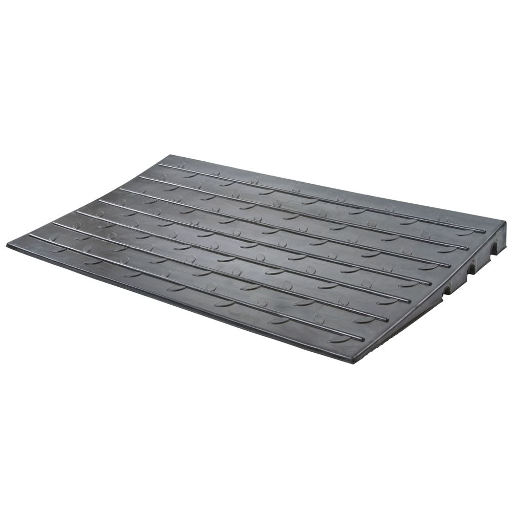 DH-UP-P Silver Spring Rubber 3 Channel Threshold Ramp