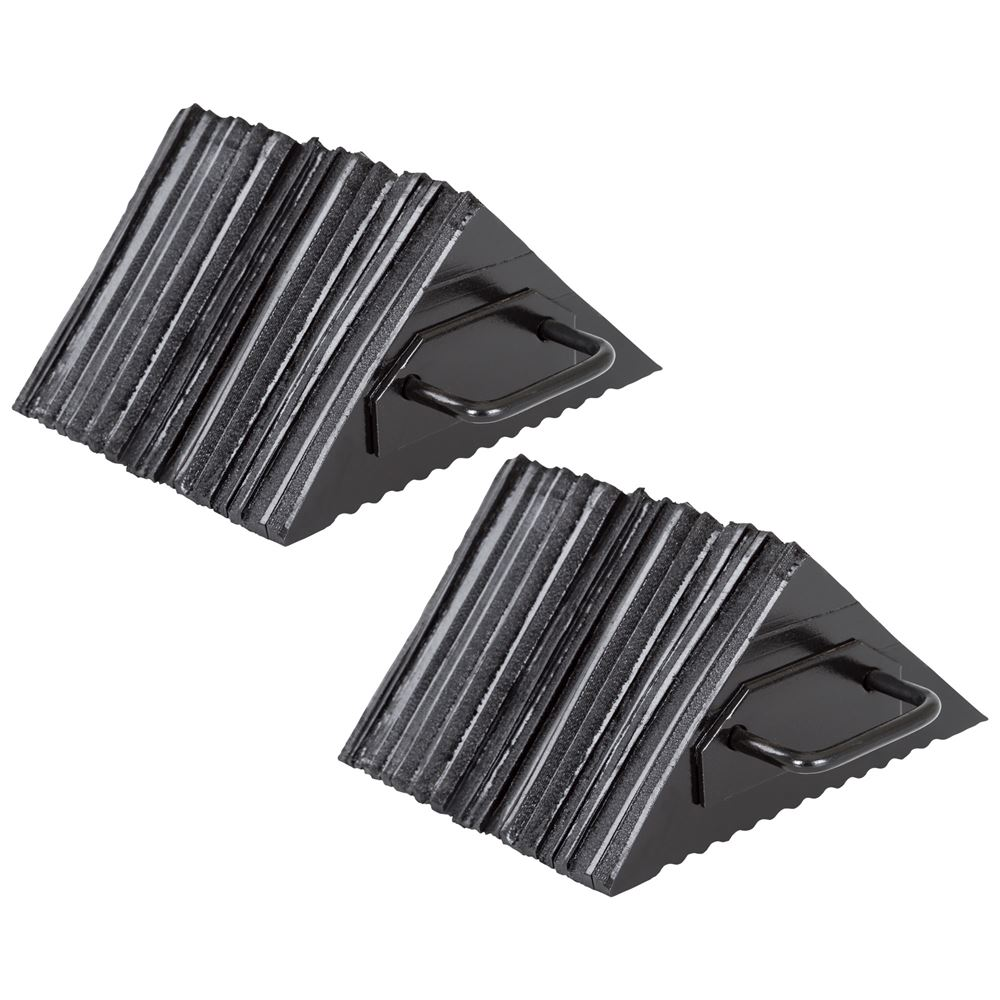 DH-WC-L2-2 Pair of Guardian Laminated Rubber Wheel Chocks - 11 x 9-12 x 6