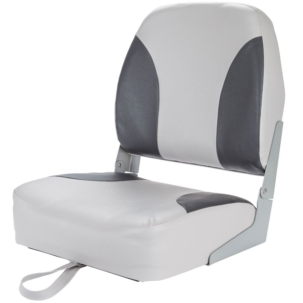 DLX-BOAT-SEAT-GCG Bass Fishing Replacement Folding Vinyl Boat Seat