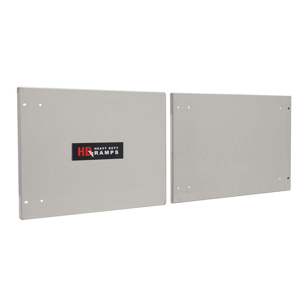 DOOR-TOOLBOX HD Ramps Polished or Stainless Steel Door Upgrade for Trailer Cabinets
