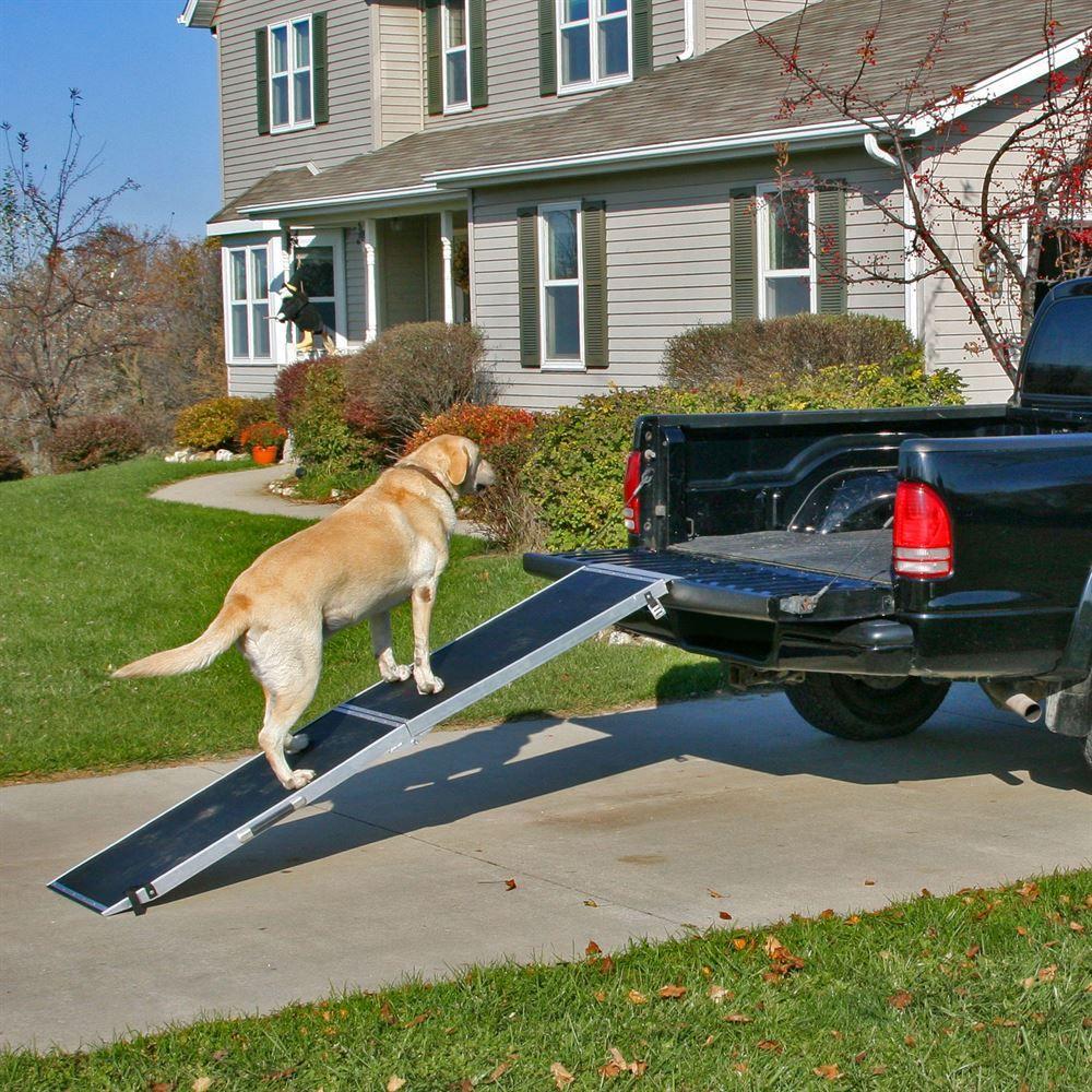 Truck Dog Ramp >> Lucky Dog Extra Wide Folding Dog Ramp | Discount Ramps
