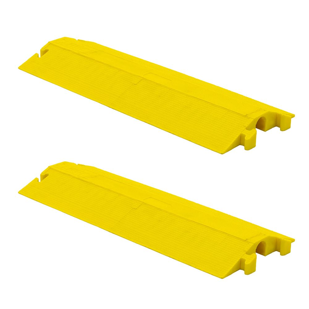 ED2210-Y-2 Elasco Dropover Cable Cover with 2 x 2 Channel - Yellow 2-Pack