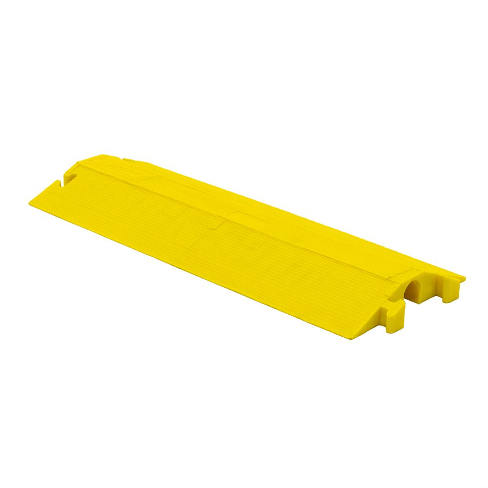 ED2210-Y Elasco Dropover Cable Cover with 2 x 2 Channel - Yellow