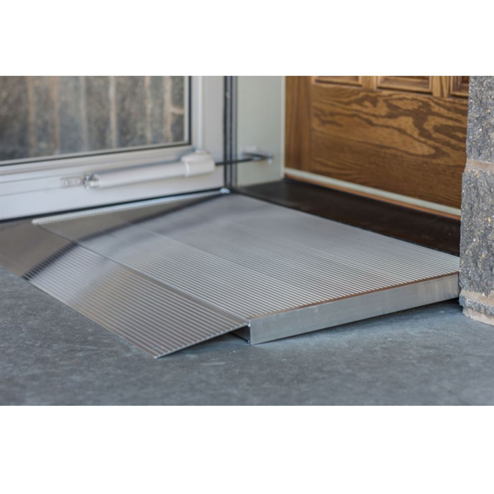 EZ-ACCESS-THRESHOLD-RAMPS EZ-ACCESS TRANSITIONS Aluminum Adjustable Self-Supporting Threshold Ramps