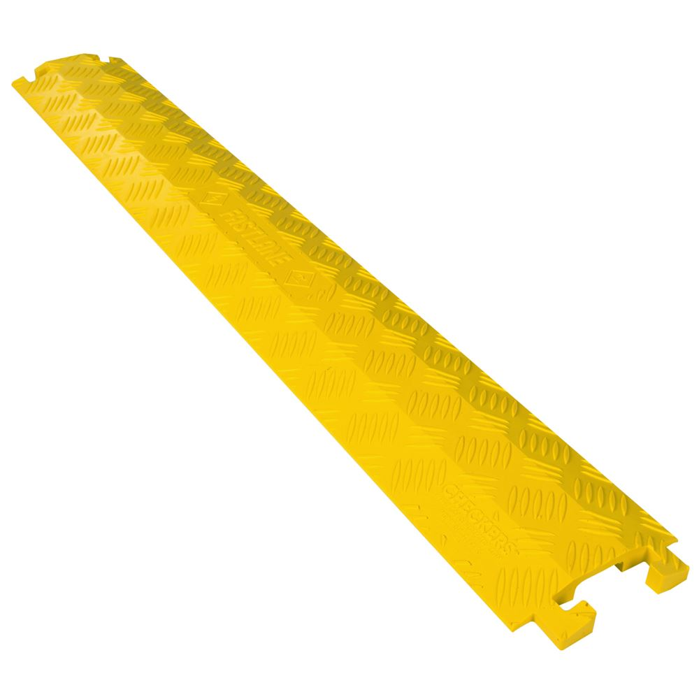 FL1X15-Y Yelow 1-Channel Drop-Over FastLane Cable Protector for 12 Diameter Cables