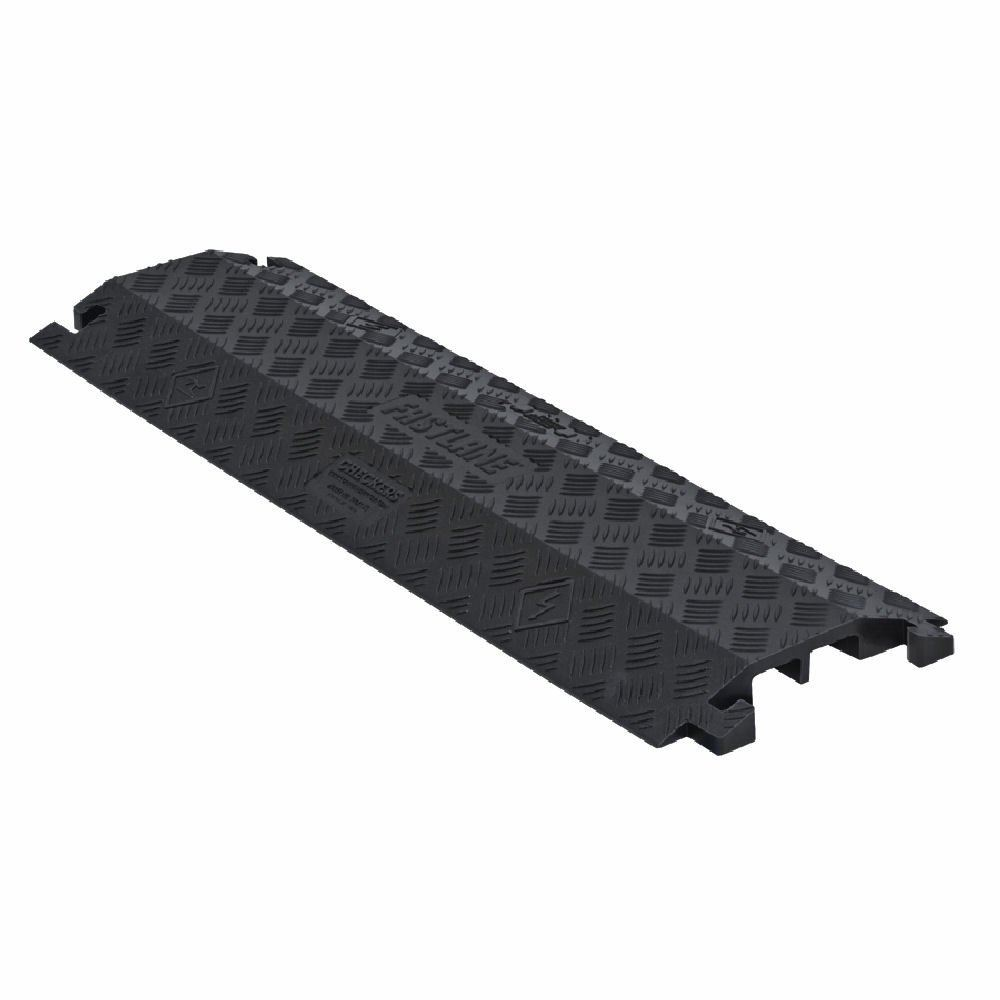 FL1X4-B Black Extra-Wide 1-Channel Drop-Over FastLane Cable Protector for 1 Diameter Cables